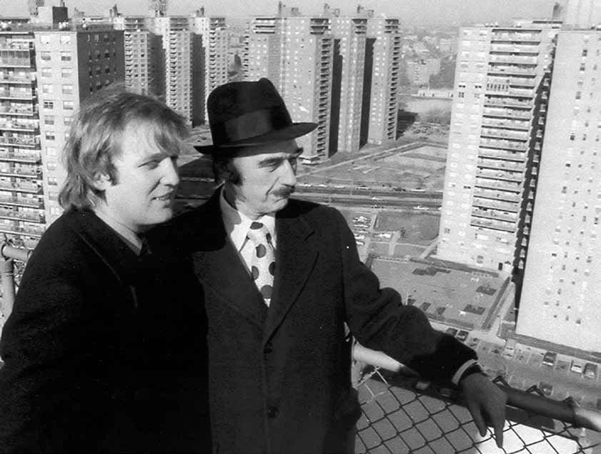 Дональд Трамп вместе со своим отцом Фредом Трампом